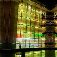 广州优越特种玻璃内镶LED灯珠发光玻璃