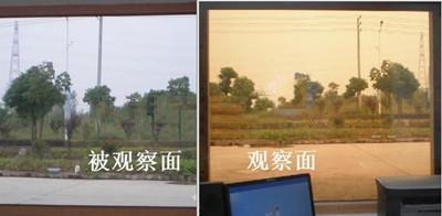 安防监控室单面透视玻璃,观察室单向玻璃