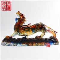 大号琉璃貔貅 广州琉璃工艺品厂家 大件琉璃定制