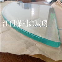 广东玻璃加工厂供应5mm白玻卫浴搁架玻璃 扇形钢化玻璃