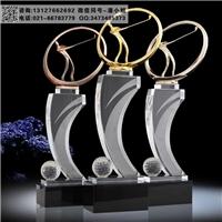 商会高尔夫竞赛奖杯 商会年终表彰会奖杯 水晶奖杯成批出售