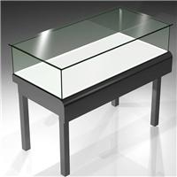 优质供应超白45度斜边拼接玻璃展示柜