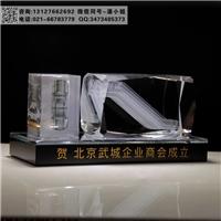 电梯公司周年纪念品 20周年赠送客户留念 水晶纪念品