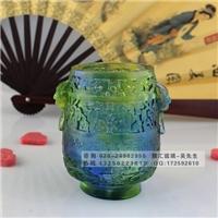 广州琉璃笔筒厂家 古法琉璃办公摆件礼品 广州琉璃工厂