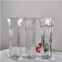 歐式簡約花瓶玻璃瓶桌面裝飾瓶富貴竹插花瓶干花瓶