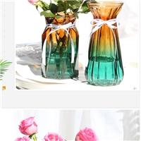 玻璃瓶歐式玻璃花瓶桌面裝飾瓶富貴竹插花瓶