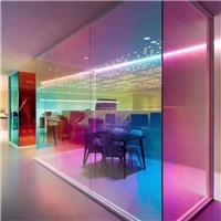 东莞炫彩玻璃厂家供应4mm5mm6mm钢化炫彩镀膜玻璃