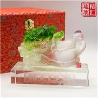 琉璃白菜百財如意工藝品 廣州琉璃工廠 琉璃禮品擺件