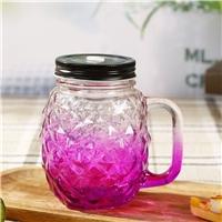 玻璃杯把手杯夏日飲料吸管杯果汁杯