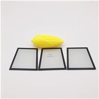 深圳灯具玻璃厂 黑色丝印磨砂灯具玻璃