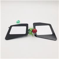 CNC开关玻璃面板 黑色丝印钢化玻璃