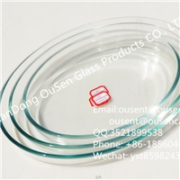 廠家批發 高硼硅耐熱玻璃 橢圓形烤盤 蛋糕烤盤