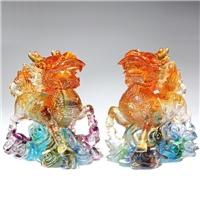 琉璃麒麟工藝品擺件 廣州琉璃風水擺件 琉璃貔貅