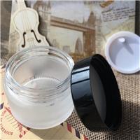 化妆品玻璃分装瓶子膏霜眼霜面霜黑色塑料盖配磨砂小瓶