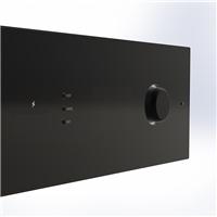 威海采购-1mm防眩光玻璃钢化打孔
