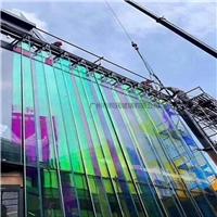 彩色玻璃 炫彩玻璃  幕墙炫彩钢化玻璃