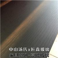木纹玻璃餐桌玻璃定制