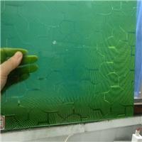 压花玻璃-绿七巧板