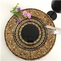 西式复古典雅宴会玻璃盘 餐盘
