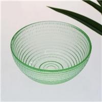彩色琉璃沙拉餐具碗 蓝色麦秸玻璃碗 促销礼品