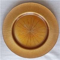玻璃欧式干果盘,电镀高档玻璃西餐盘