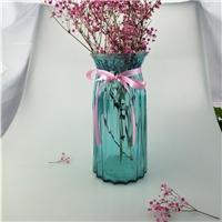 批发玻璃彩色透明折纸菱形花瓶创意植物干花瓶可定制