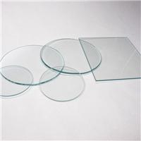 普通钢化玻璃1-5mm长方形圆形超白实验室透明小玻璃片
