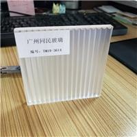 广州坑纹玻璃 双面坑纹条纹玻璃 移门条纹夹胶玻璃