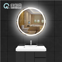 美格曼智能卫浴镜带灯圆形浴室镜化妆镜子
