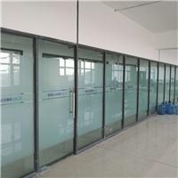 青岛办公室玻璃门贴膜安装