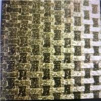 镶嵌玻璃-金竹编,蓝银波,金银波