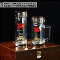 國慶70周年禮品杯子 70周年雙層玻璃茶水杯 會議禮品