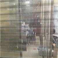 玻璃夹丝 古铜色金属网