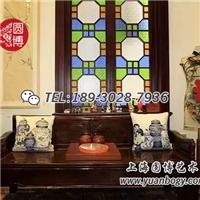 圓博滿洲彩色藝術花窗
