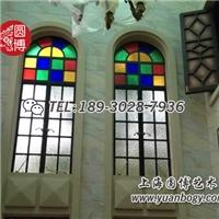 玻璃彩色花窗滿洲彩色玻璃花窗