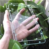 方形多孔钢化玻璃 不易崩边超白钢化玻璃加工厂