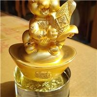 西安水晶金鼠工艺品桌摆 鼠年纪念礼品做字