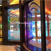 廣州幻彩玻璃 炫彩鋼化玻璃 彩色變色玻璃