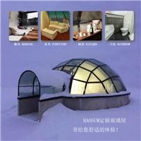 度假酒店玻璃屋 泡泡屋 钢化中空玻璃屋 玻璃屋定做