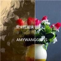 茶色压花玻璃 茶五月花 bronze mayflower