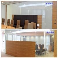 办公隔断智能调光玻璃 通电雾化变色玻璃