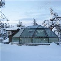 度假酒店玻璃屋设计定做 海边民宿玻璃屋  透明玻璃屋