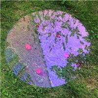 AR镀膜厂定做加工超白淡紫色AR浮法玻璃