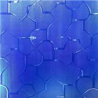 鑲嵌玻璃-藍色壓花玻璃