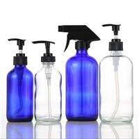 透明洗手液玻璃瓶 棕色洗手液瓶 藍色噴乳瓶