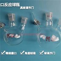 二口反应烧瓶具标准玻璃节门