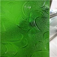 彩色壓花玻璃-綠七巧板