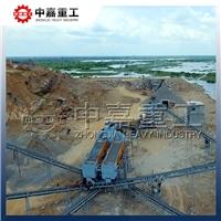 时产200吨玄武岩制砂生产解决方案_中嘉重工