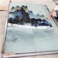 夹丝夹绢山水画玻璃定制