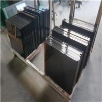 工艺品底座专属黑半透玻璃 10mm纯黑色黑波钢化玻璃